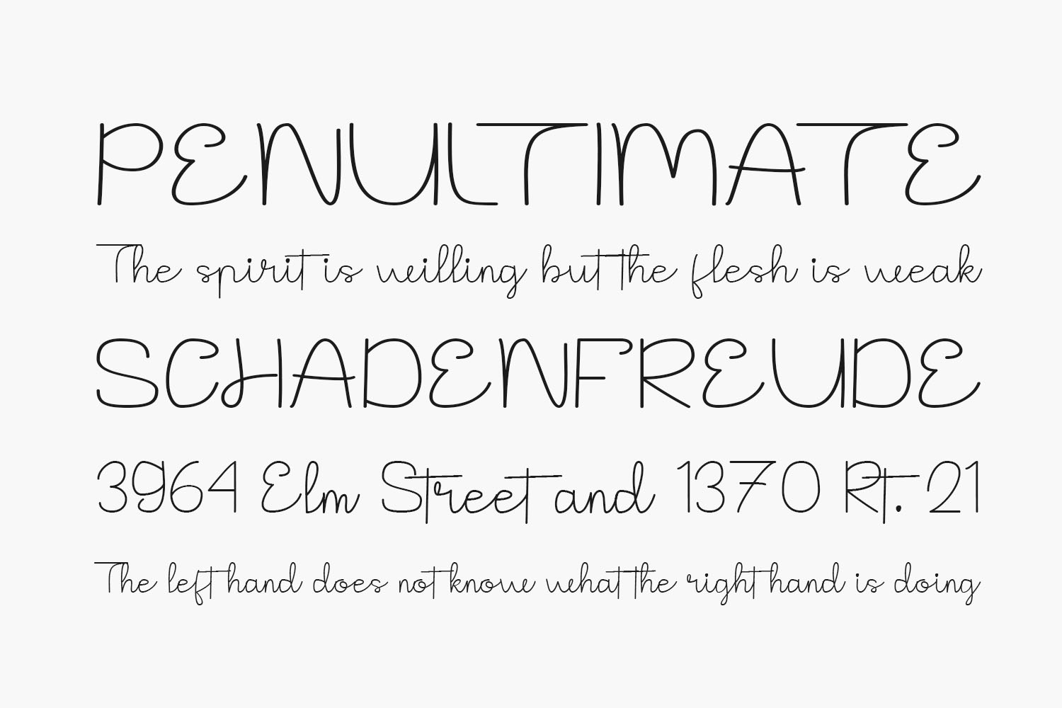 The Notes Free Font