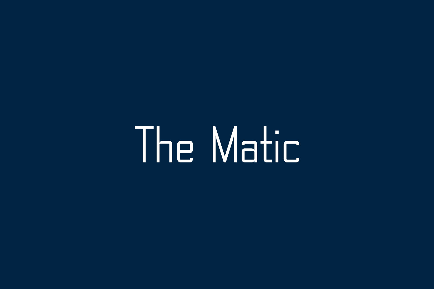 The Matic Free Font