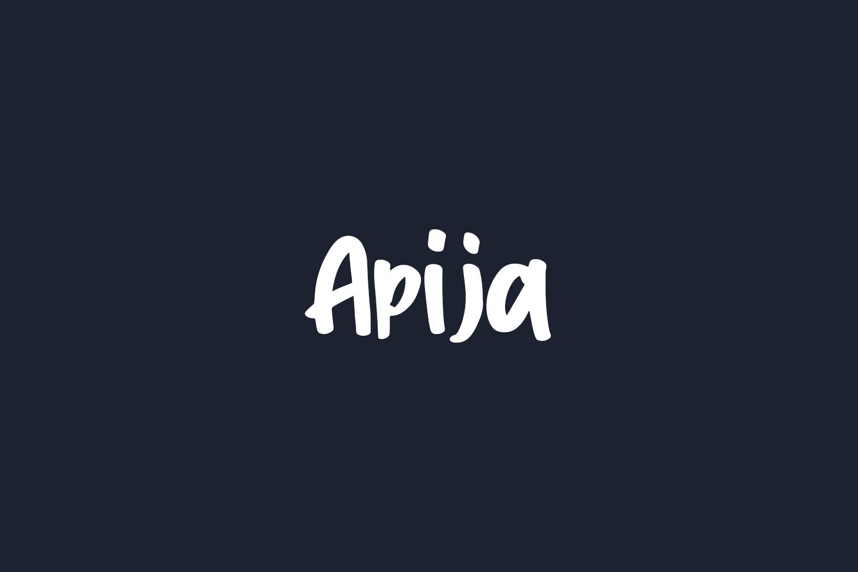 Apija Free Font