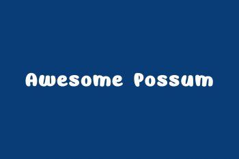 Awesome Possum Free Font