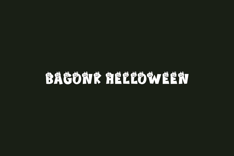 Bagonk Helloween Free Font