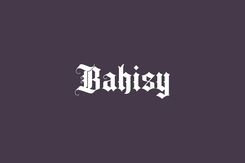 Bahisy Free Font