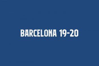 Barcelona 19-20 Free Font