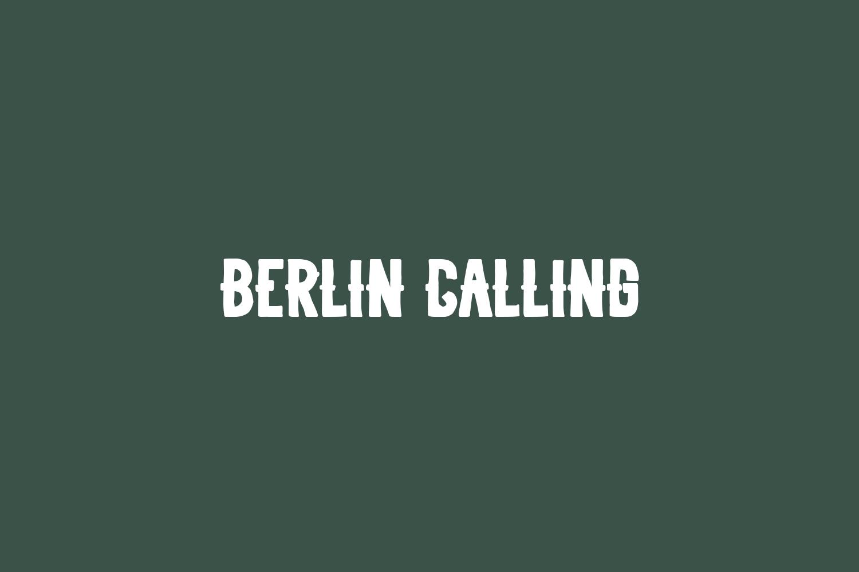 Berlin Calling Free Font