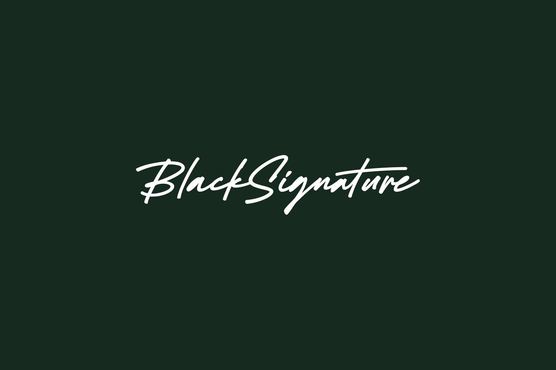 Black Signature Free Font