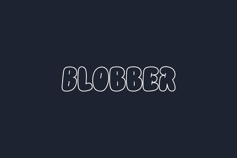Blobber Free Font