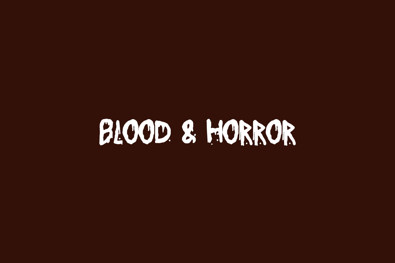 Blood & Horror Free Font