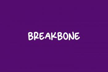 Breakbone Free Font