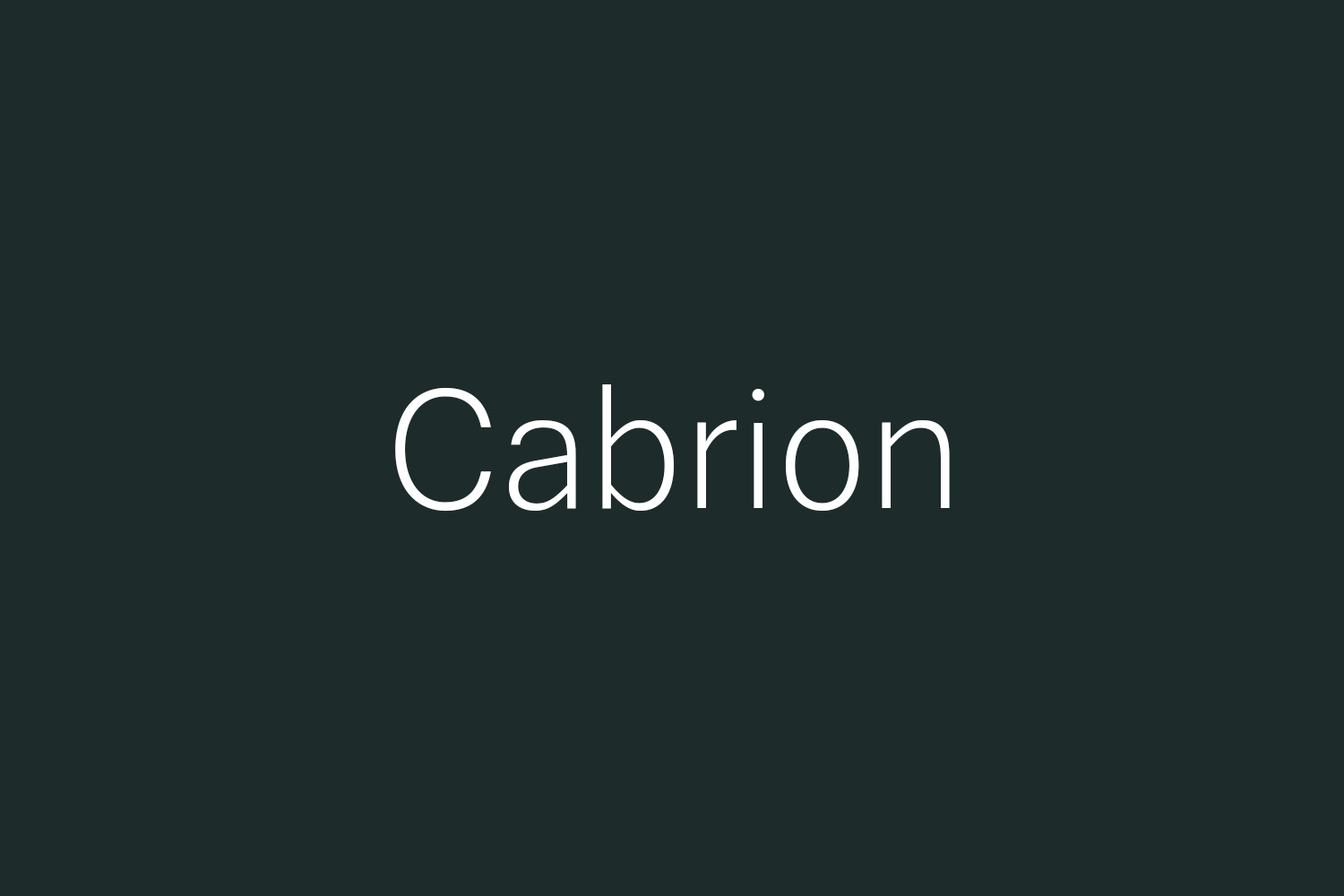 Cabrion Free Font
