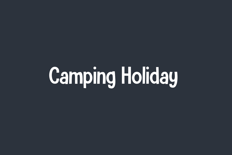 Camping Holiday Free Font