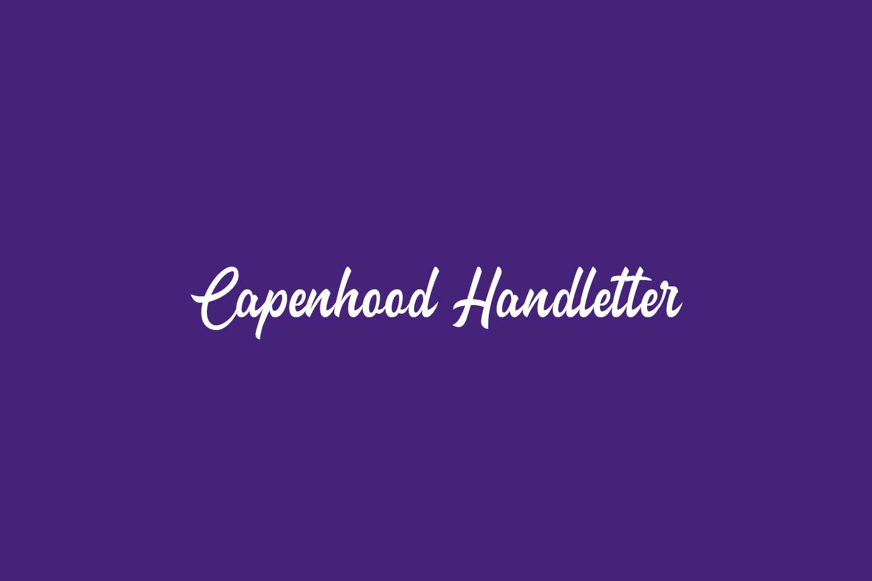 Capenhood Handletter Free Font
