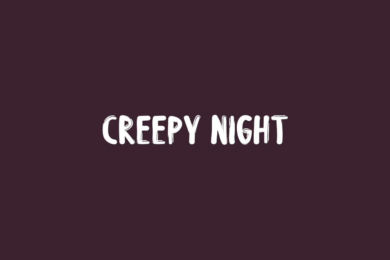 Creepy Night Free Font
