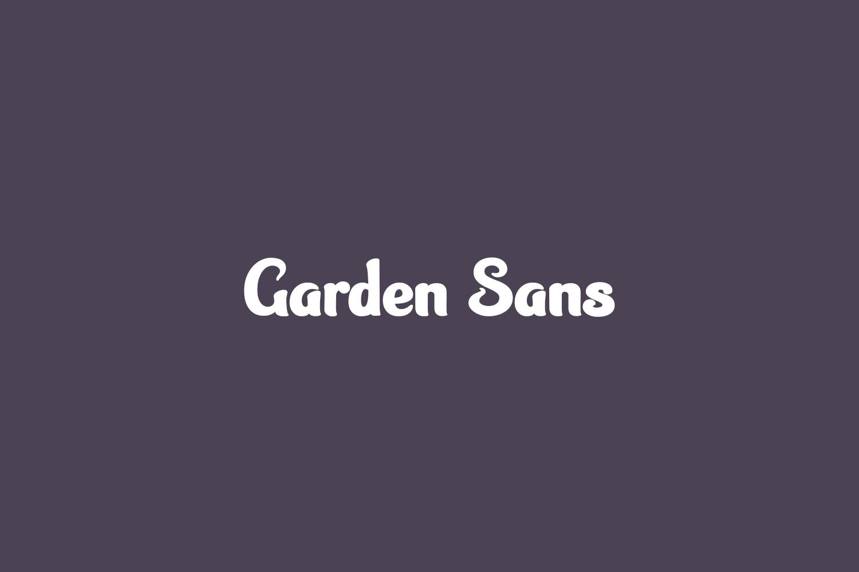 Garden Sans Free Font