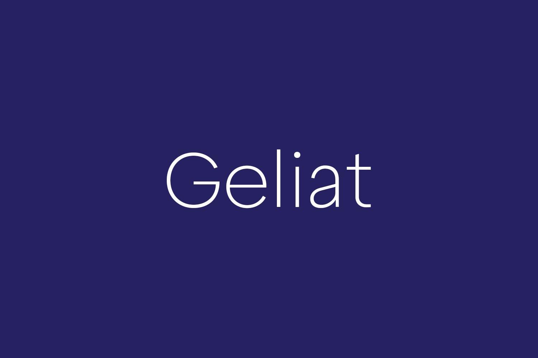 Geliat Free Font