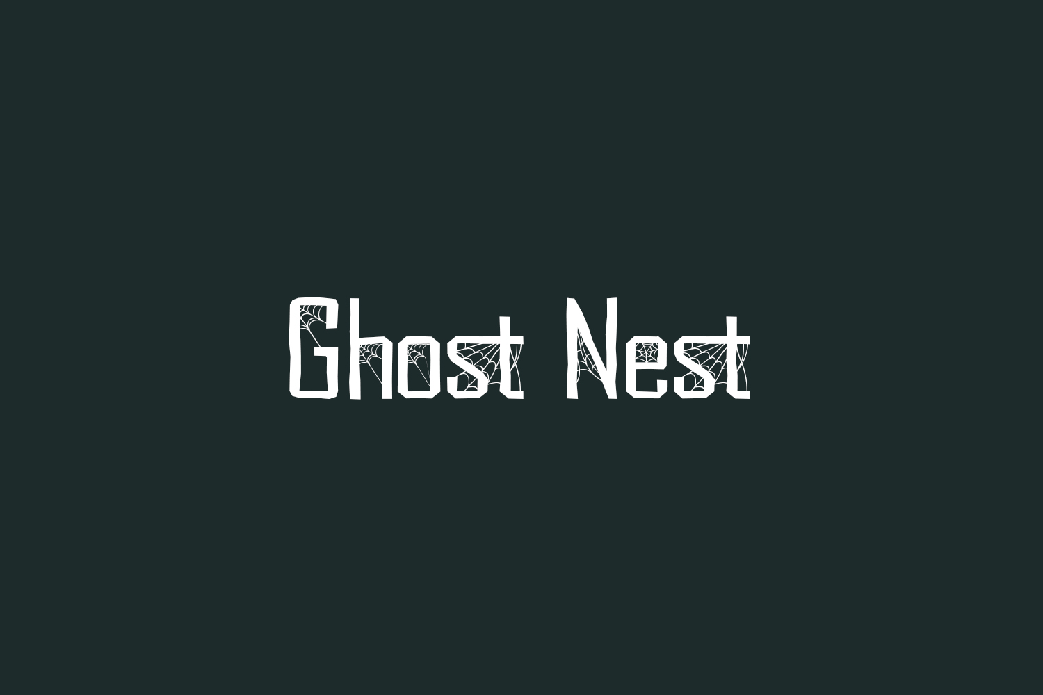 Ghost Nest Free Font