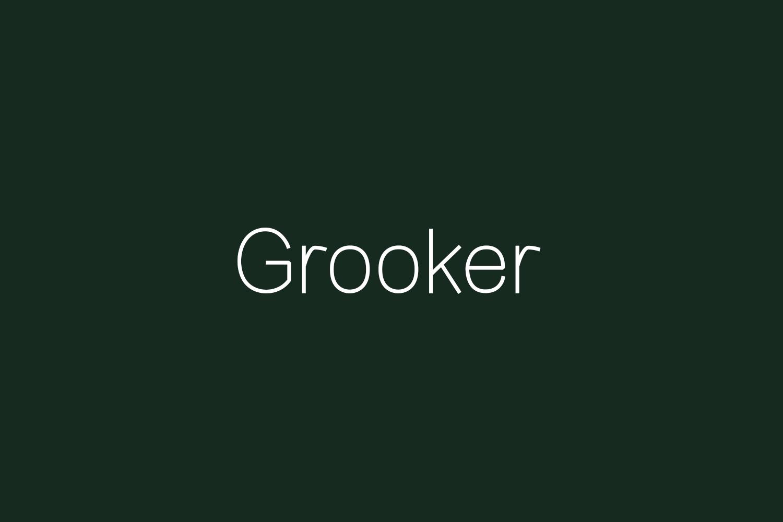 Grooker Regular