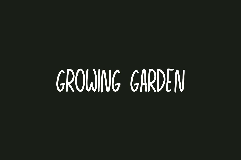 Growing Garden Free Font