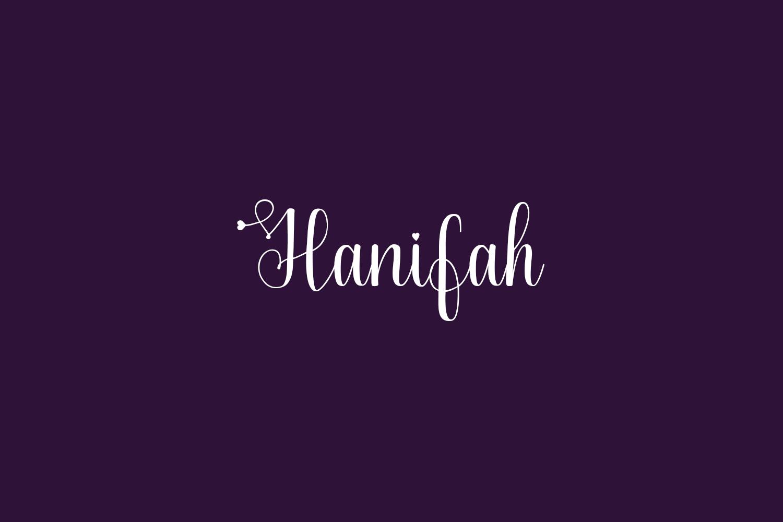 Hanifah Free Font