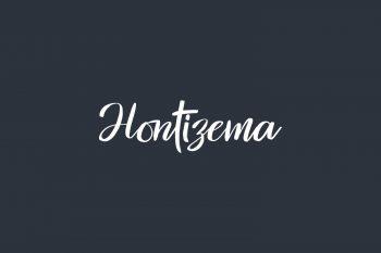 Hontizema Free Font
