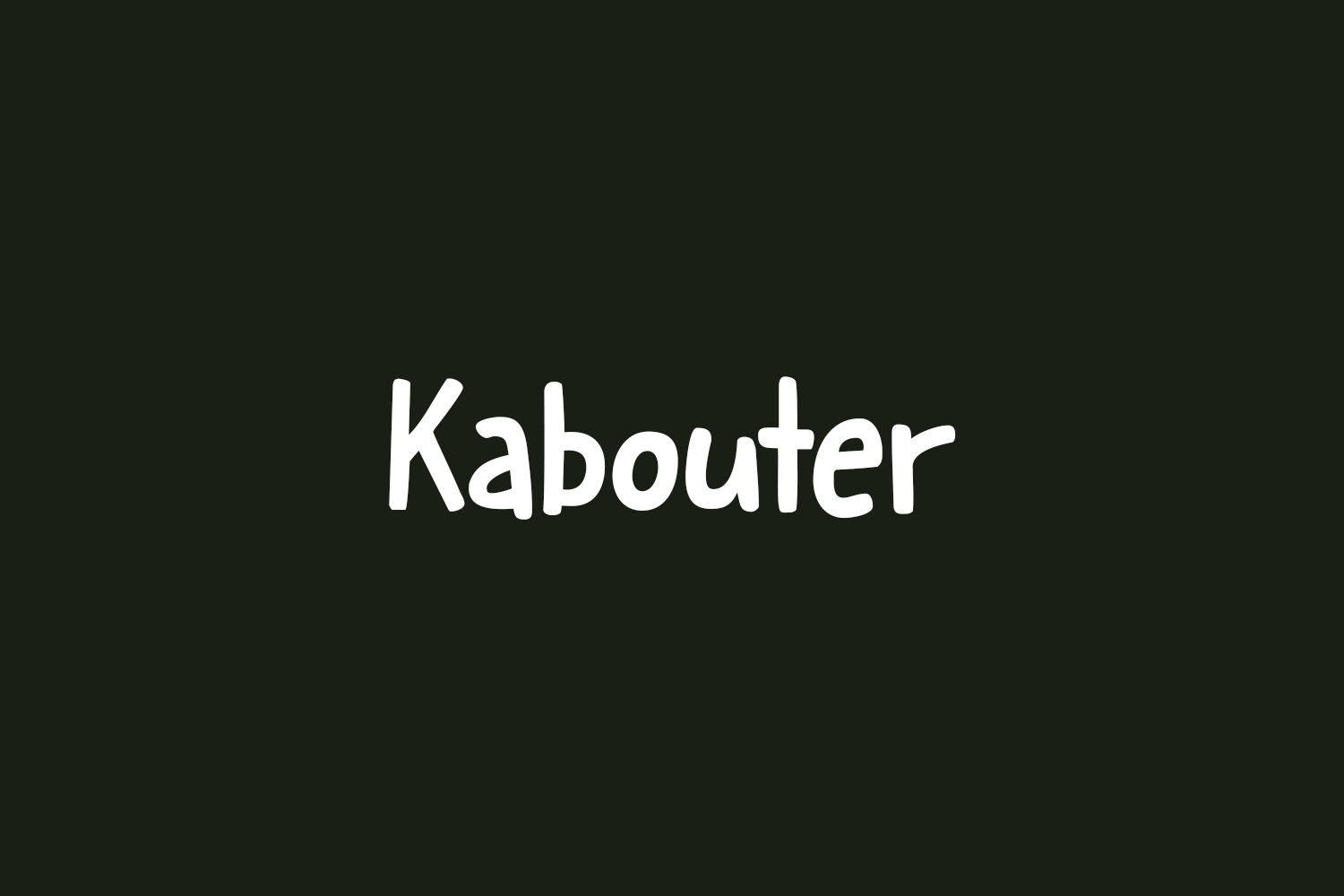 Kabouter Free Font