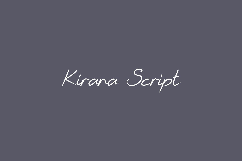 Kirana Script Free Font