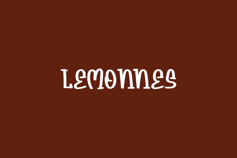 Lemonnes Free Font