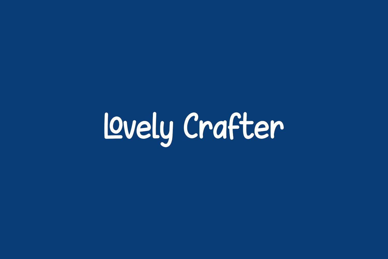 Lovely Crafter Free Font