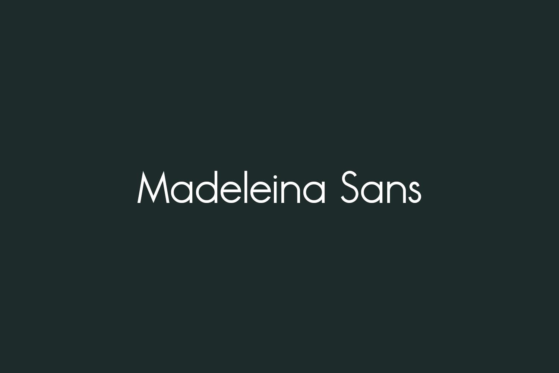 Madeleina Sans Free Font