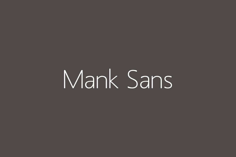 Mank Sans Free Font