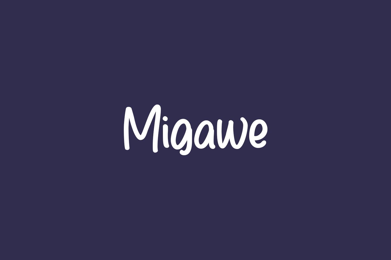 Migawe Free Font