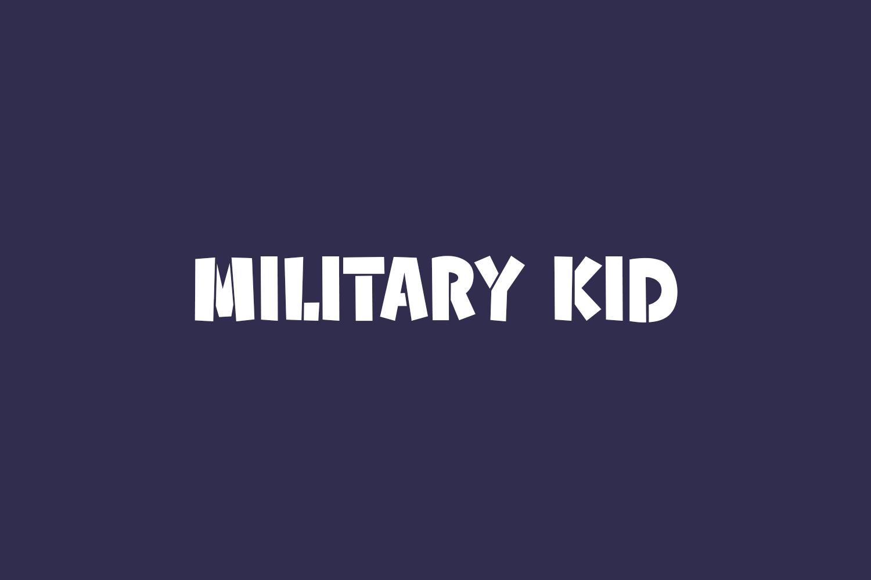 Military Kid Free Font