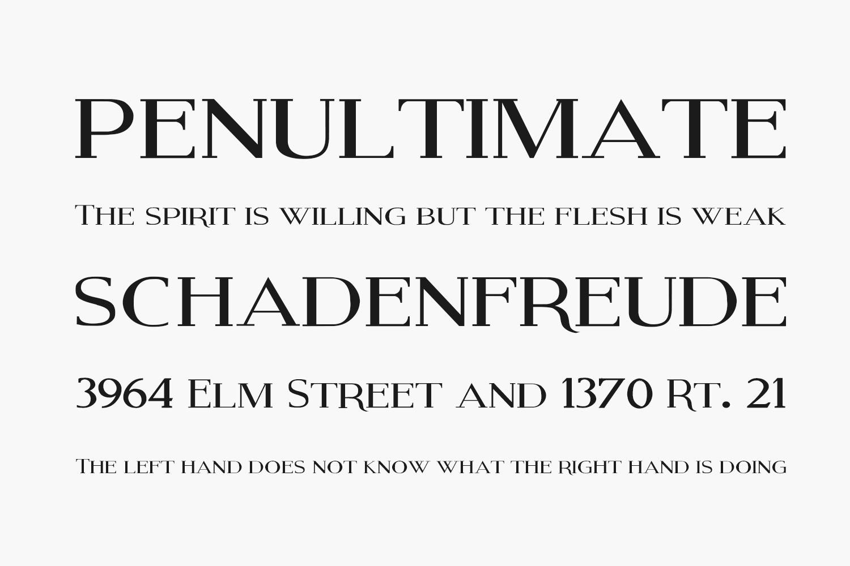 Modern Serif Free Font