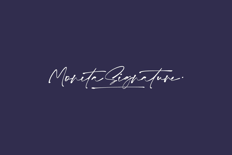 Monita Signature Free Font