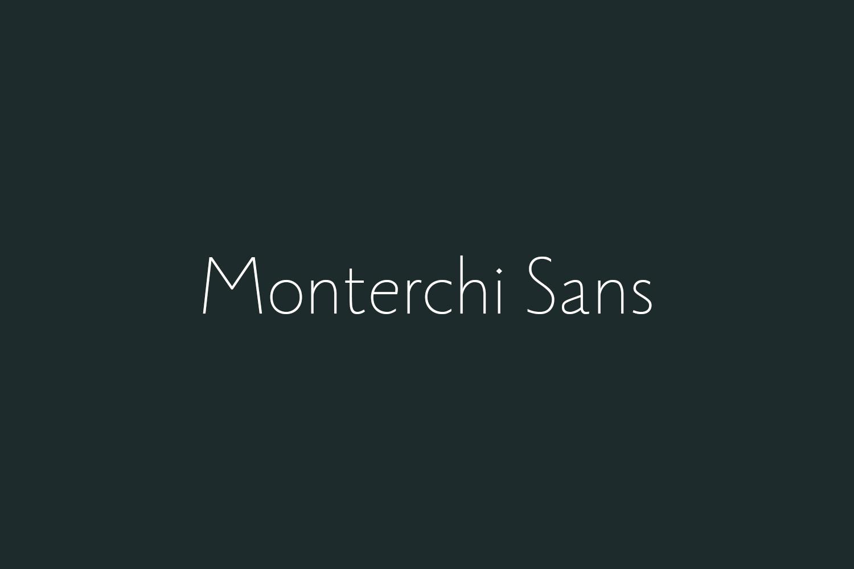 Monterchi Sans Free Font