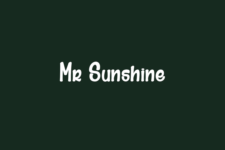 Mr Sunshine Free Font