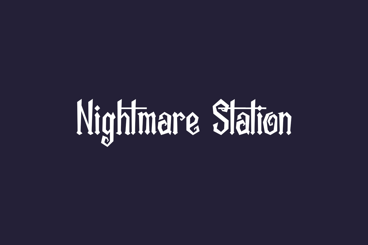 Nightmare Station Free Font