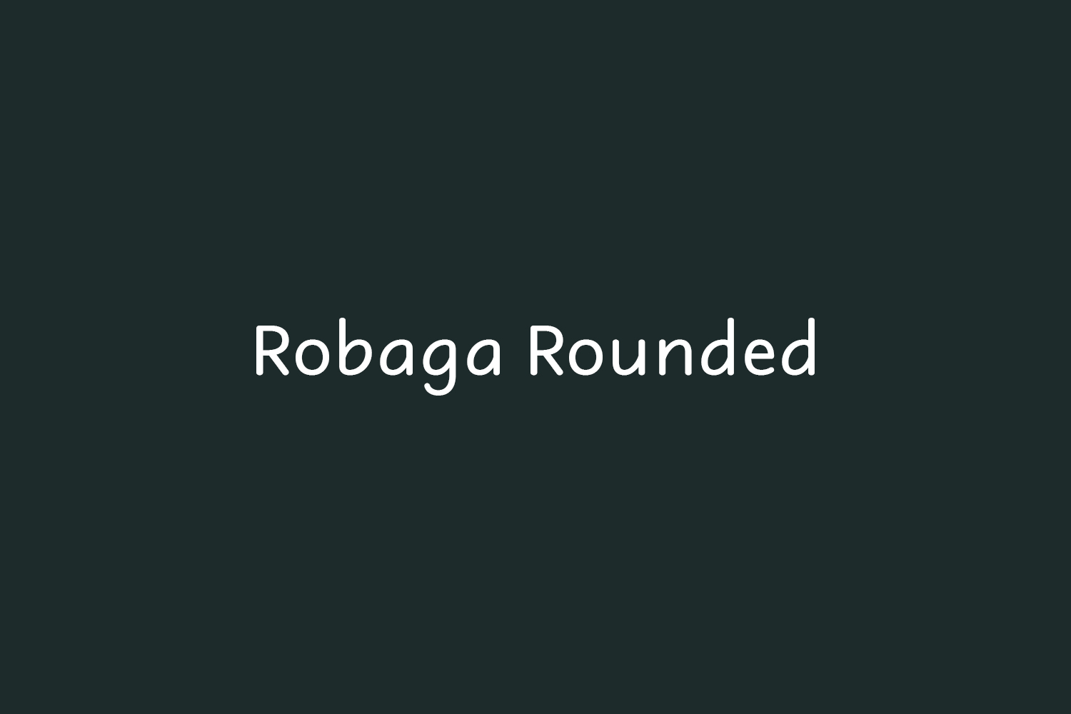 Robaga Rounded Free Font