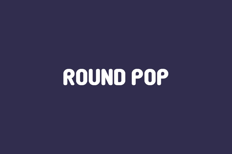 Round Pop Free Font