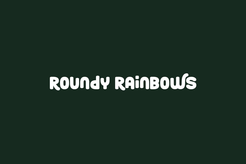 Roundy Rainbows Free Font