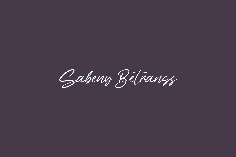 Sabeny Betranss Free Font