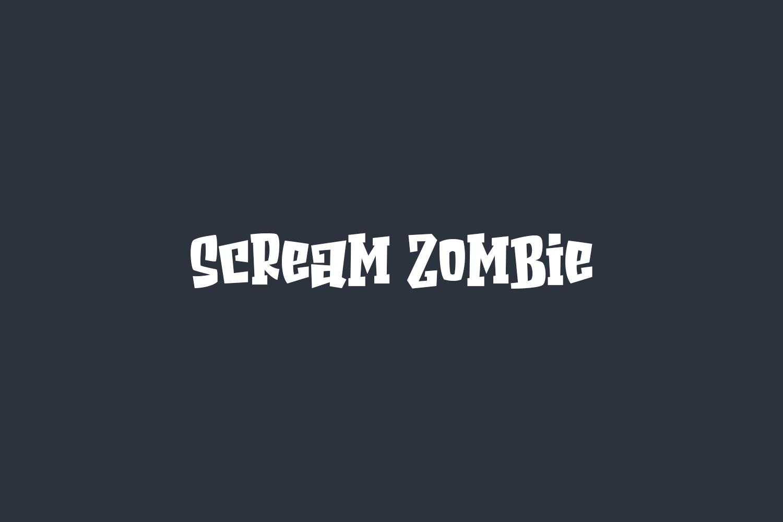 Scream Zombie Free Font