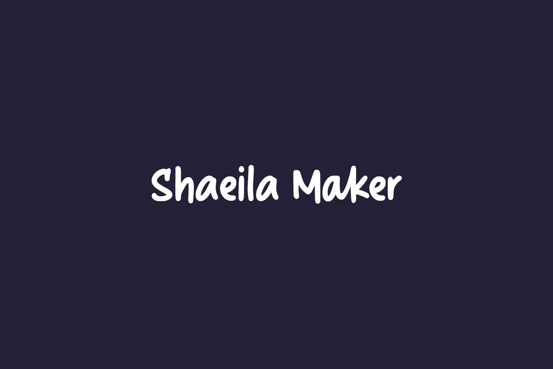 Shaeila Maker Free Font