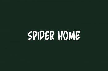 Spider Home Free Font