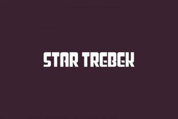 Star Trebek Free Font