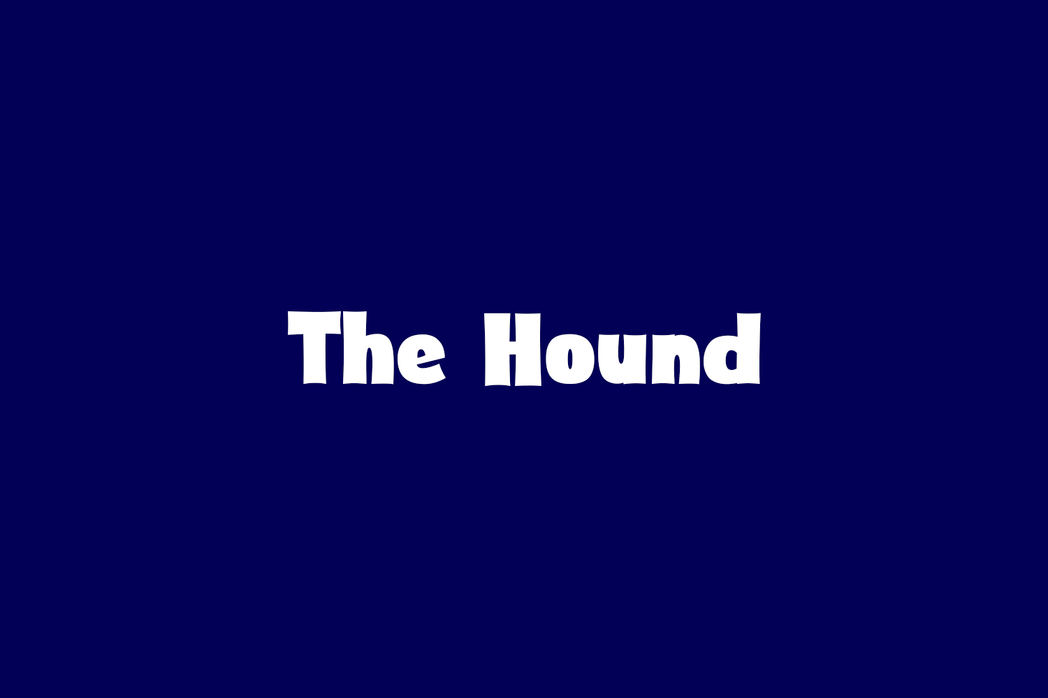 The Hound Free Font