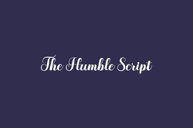 The Humble Script Free Font
