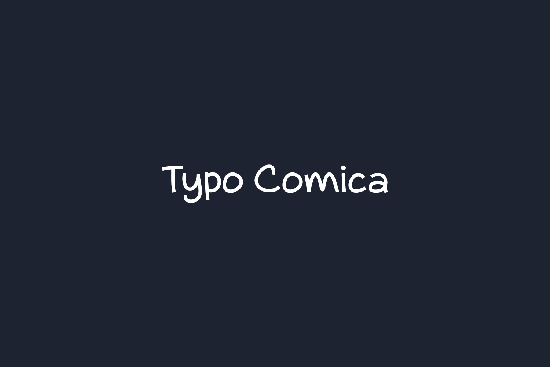 Typo Comica Free Font