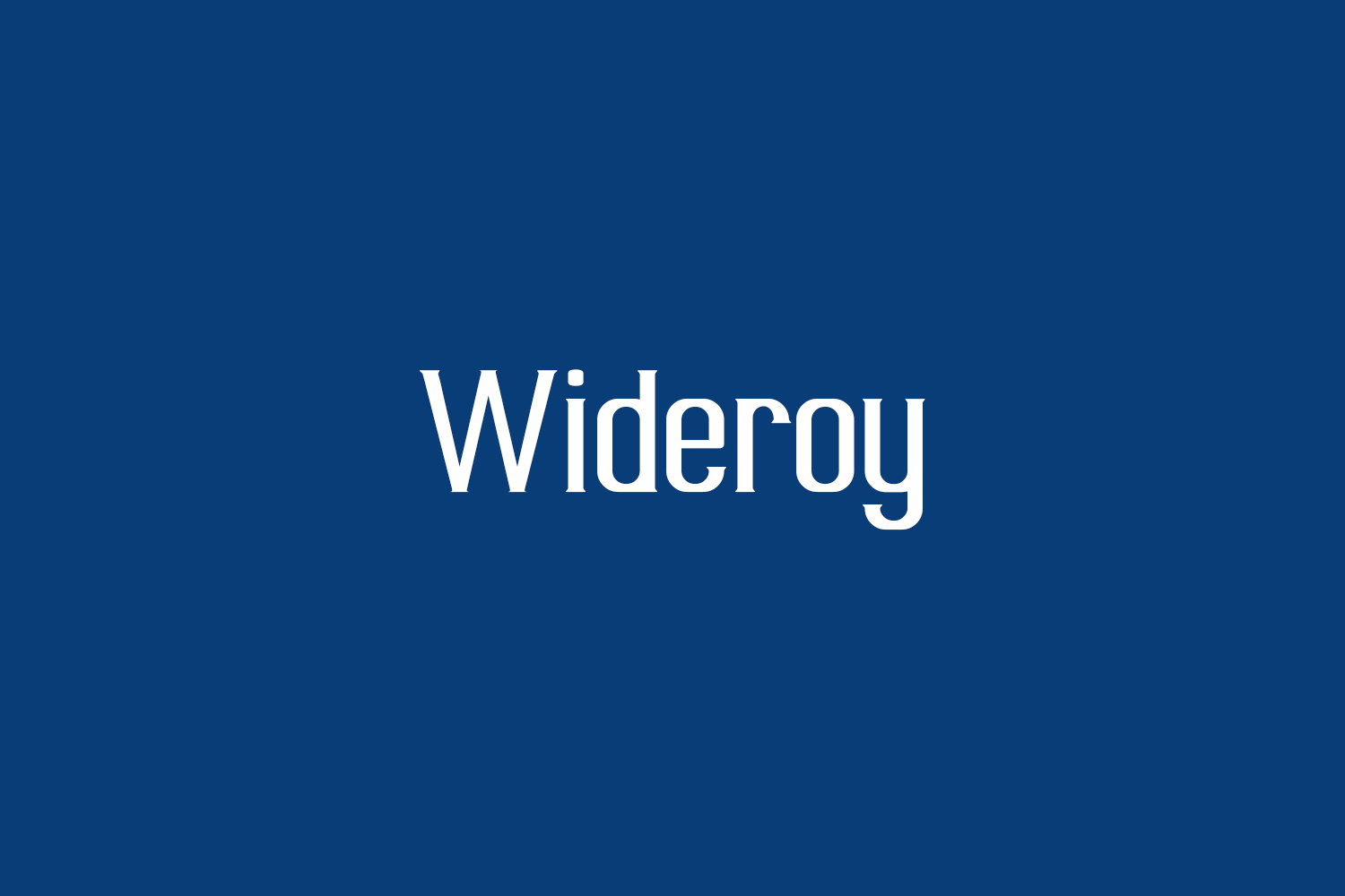Wideroy Free Font