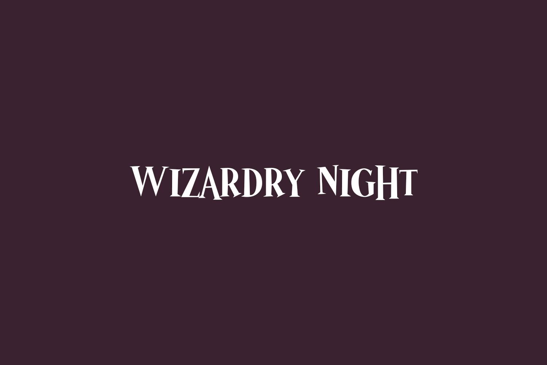 Wizardry Night Free Font